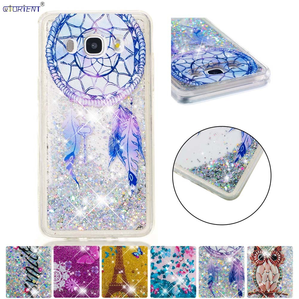 Phone Bags & Cases For Samsung Galaxy J5 2016 J56 Bling Glitter Dynamic Quicksand Liquid Case Sm-j510f/ds Sm-j510fn/ds Soft Silicone Phone Cover Making Things Convenient For Customers Cellphones & Telecommunications
