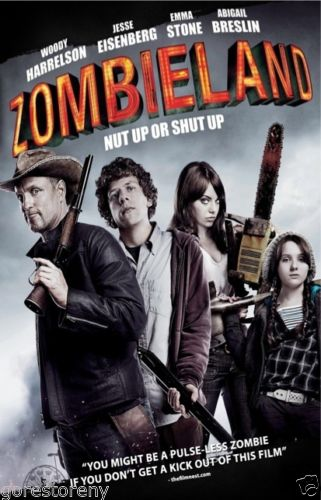 ZOMBIELAND Movie Horror Zombies Survival Rules Woody Harrelson Silk Poster Art Bedroom Decoration 1771 image