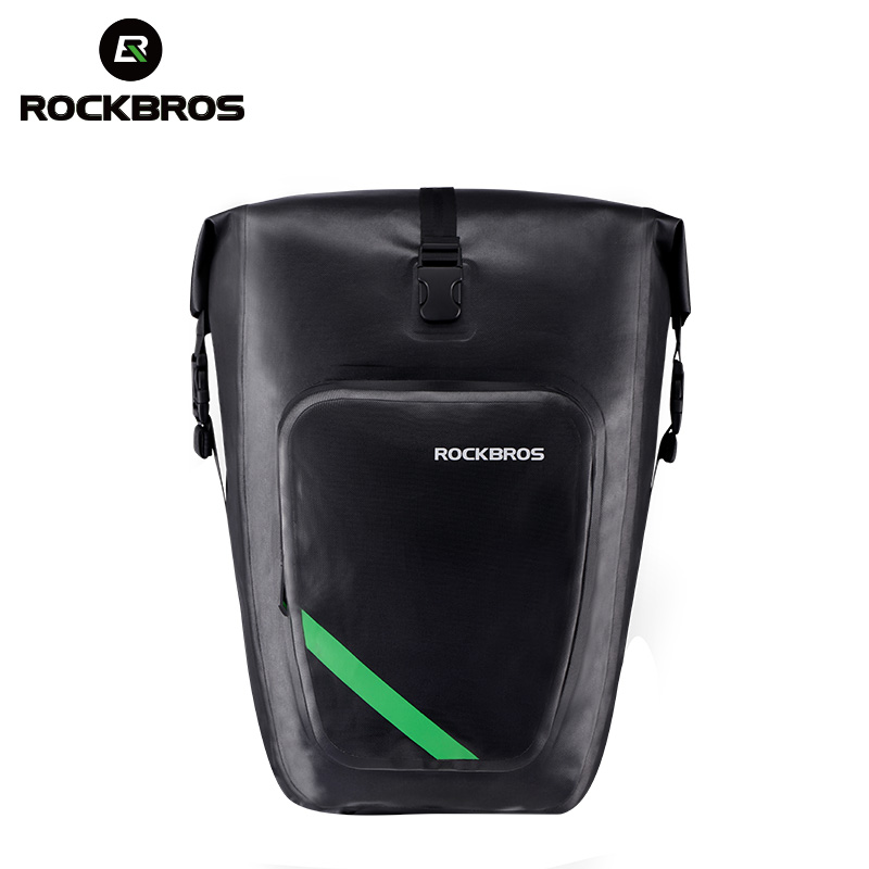 ROCKBROS Waterproof Cycling Bag 27L Portable Bike Bag Pannier Rear Rack Tail Seat Trunk Cycling MTB Bag Riding Bike Accessor wheel up bicycle rear seat trunk bag full waterproof big capacity 27l mtb road bike rear bag tail seat panniers cycling touring
