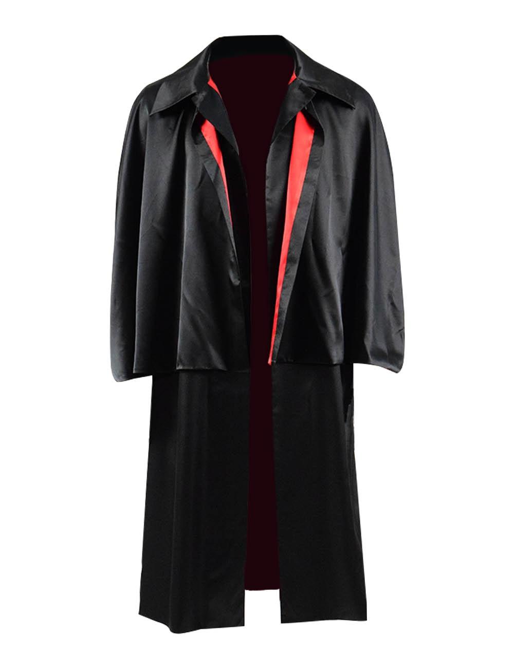 Historical Men's Cape Jacket Retro Cloak Victorian Dickens Coat Cosplay Costume