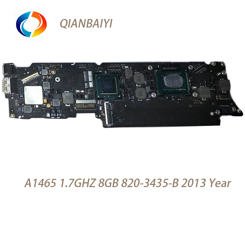 Laptop Motherboard for Macbook Air A1465 Logic Board 11'' I5 8G 1.7Ghz 820 3435 B 2013 Year