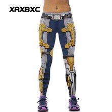 New 540 Sexy Girl leggins Armour Iron Man Warrior Printed Polyester Elastic Fitness Workout Women Leggings