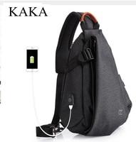 KAKA Brand Designer Men Messenger Bag shoulder bag men chest pack Day pack Cross body Back Pack Men's Chest Sling bag for man