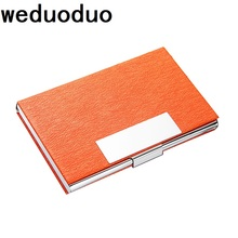 Weduoduo 2019 New Business ID Credit Card Holder For Women Men Fashion Brand Metal Aluminum Case PU Leather Porte Carte