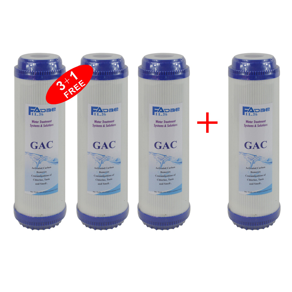 4 PACK of Water Purifier Pre-Filter 10x2-7/8 Granular Activated Coconut Carbon Filter Cartridge(GAC) whole house water filter replacement cartridge granular coconut carbon filter 4 5 x 10 inch