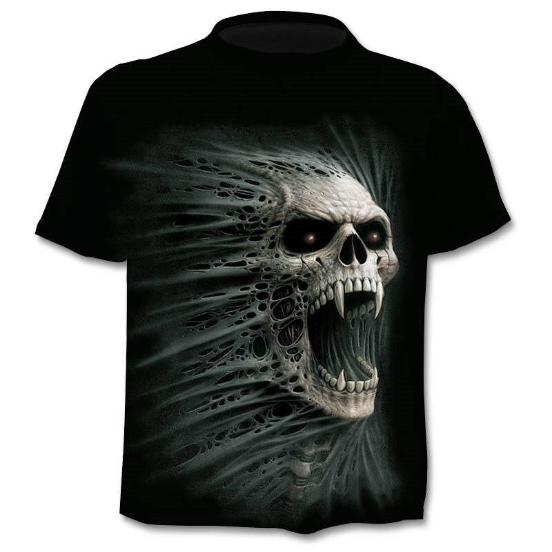 New 3D Skull T-Shirt Men's 2019 Hot Sale Fashion Brand Men's Punisher Ghost T-shirt 3D Print Fashion Hip Hop Harajuku T-Shirt