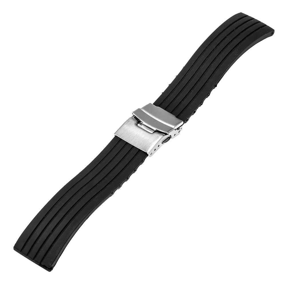321646c3088 Pulseira de Borracha De silicone para Tissot PRC 200 T055 T035 T097 Watch  Band Alça de Pulso Preto 17mm 18mm 19 24 23 22 21 20mm mm mm mm mm mm em ...