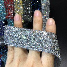 Self-Adhesive Rhinestone Tape Applicator  Strass Hotfix Rhinestones For Clothes Applique Trim Crystal Jewelry Ribbon