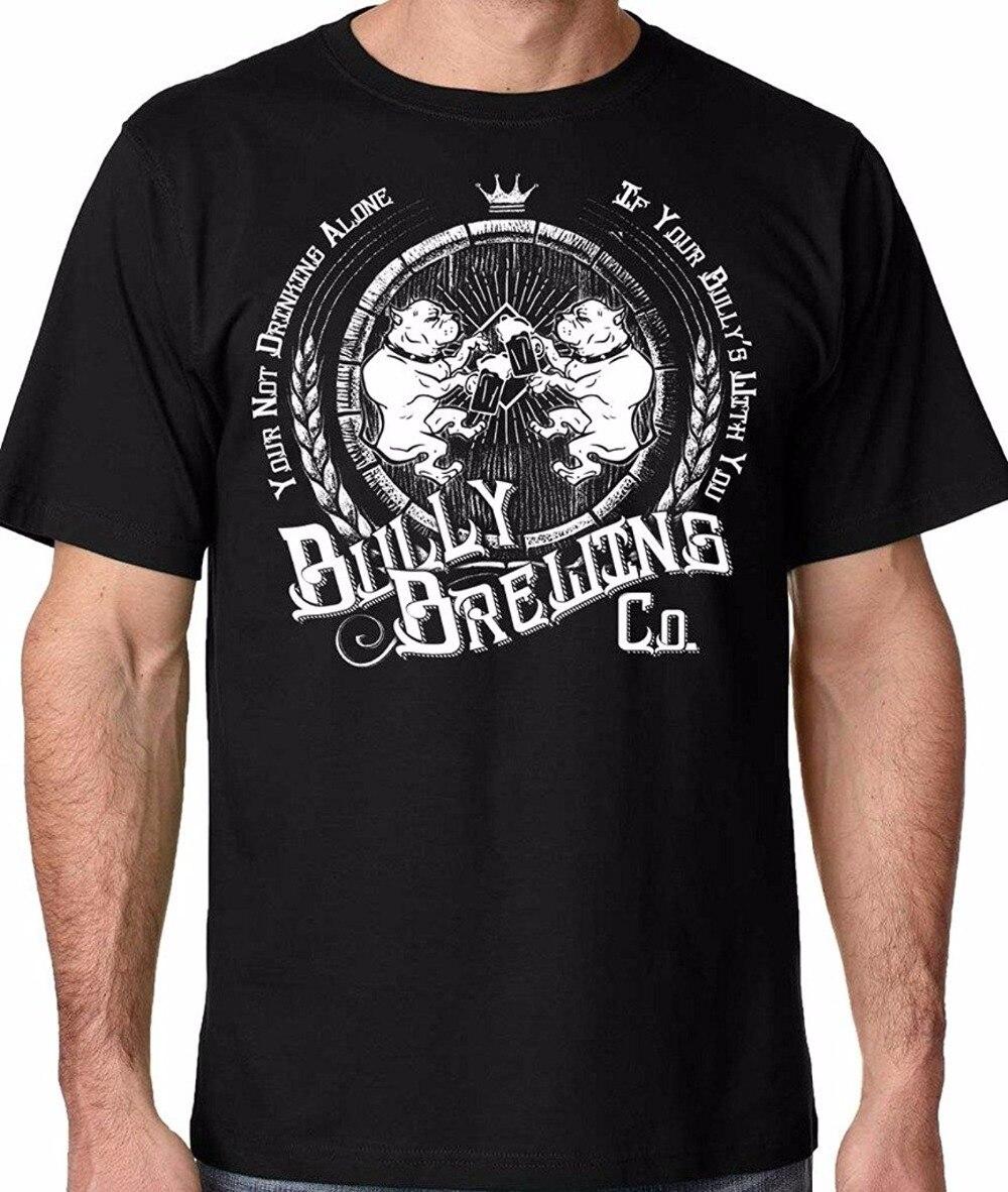 2018 Новый Для мужчин футболка Лидер продаж 100% хлопок Топ Tee плюс Размеры Бесплатная доставка питбуль хулигана пивоварения пользовательские ...