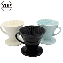 YRP Japan Ceramic Coffee Dripper Engine V60 Style Drip Filter Cup Permanent Pour Over Maker with Separate Stand