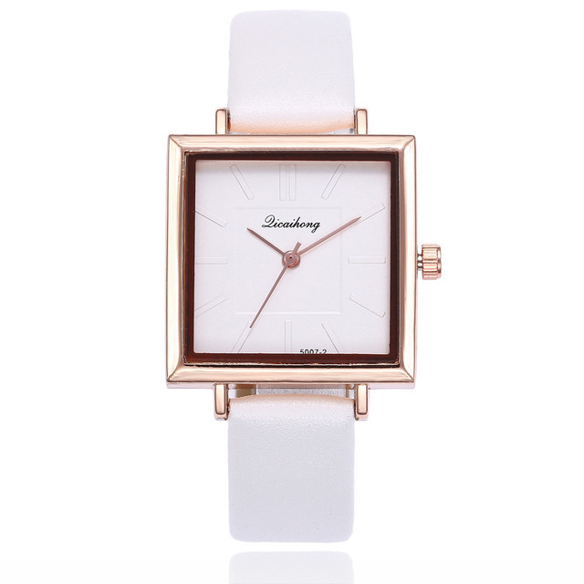 Top Brand Square Women Bracelet Watch Contracted Leather Crystal WristWatches Women Dress Ladies Quartz Clock Dropshiping