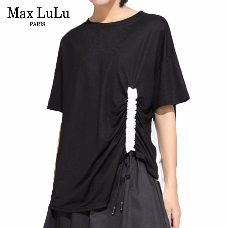 Max LuLu 2019 Korean Fashion Summer Clothes Ladies Punk Tops Tees Womens Loose Kawaii Oversized Tshirt Casual Designer T Shirts image