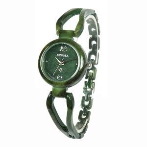 Image 2 - BEWELL relojes de Jade para mujer, reloj de pulsera con gemas, resistente al agua, regalo, amigos, 077A