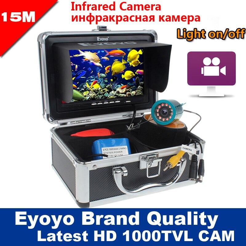 Eyoyo Original 15M 1000TVL Underwater Fishing Camera Video Recording DVR Fish Finder 7