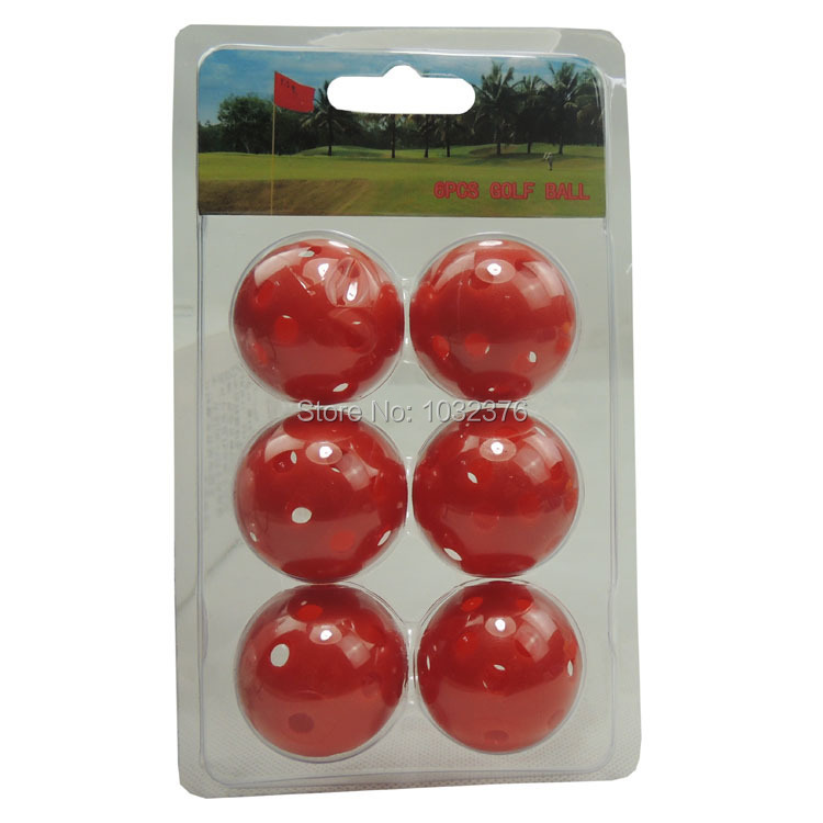 6 PCS golf ball boxes of golf blister box packing golf gift Perforated golf ball