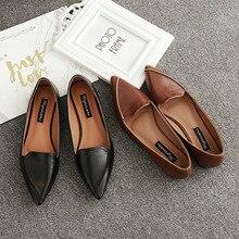 Nuevos zapatos planos de mujer, zapatos informales a la moda con puntera en Punta vintage para primavera Otoño, zapatos de oficina sólidos para mujer, marca ruideng