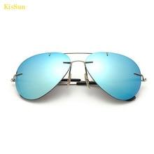 KisSun New Top Quality Frameless Polarized Women Sunglasses Mirrored Gradient G ray UV400 Female Sun Glasses Gafas Oculos de sol