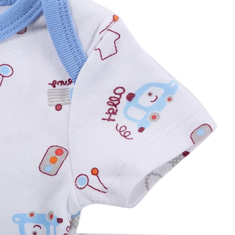 DH16106 Newborn Baby Clothes Animal Print Short Sleeve Cotton Baby Boy Romper Girl Ruffle Romper roupas de bebe infantil Costumes (10)