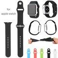 42 m faixa de relógio de silicone colorido com conector adaptador para apple watch strap para iwatch esportes pulseira buckle 15 cores
