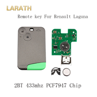 LARATH 2 Buttons Smart Remote Key PCF7947 Chip 433Mhz Suit For Renault Laguna Espace 2001 2006