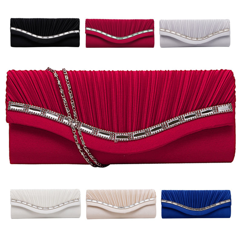 Fashion Women Rhinestone Handbag Evening Party Clutch Bag Wedding Wallet Purse naivety new fashion women tassel clutch purse bag pu leather handbag evening party satchel s61222 drop shipping