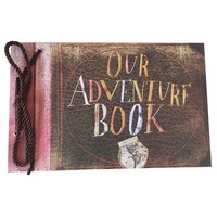 Our Adventure Book, Pixar Up Themed Scrapbook with Movie Postcards, Wedding and Anniversary Photo Album, 80 Pages