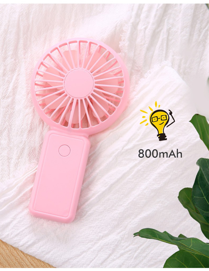 Hand Free Mini Portable Fan Battery With Colorful Lights Two Fans Hanging Around The Neck For Sport 15