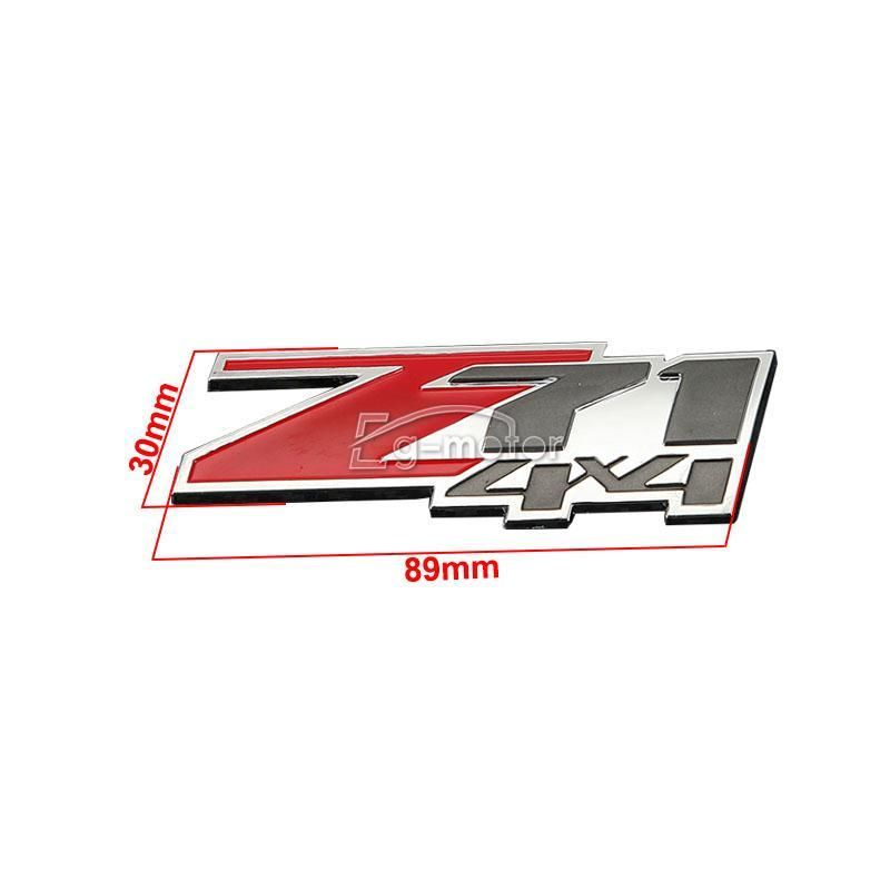 빨간 아 BS Z71 4x4 상징 기장은 Chevrolet Silverado 1500 / GMC - 외부 자동차 액세서리 - 사진 6
