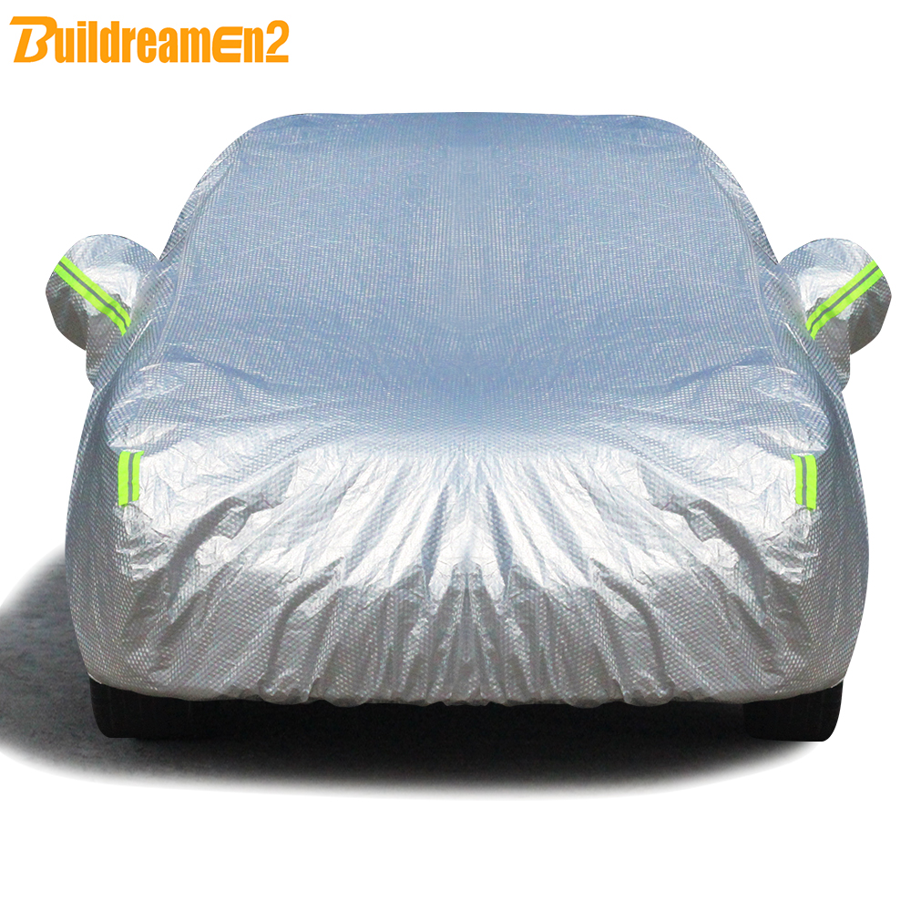 Buildremen2 Three Layers Cotton Car Cover Waterproof Sun Shield Rain Hail Prevent Dust Proof Auto Cover For SUV Sedan Hatchback