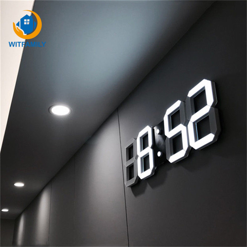 3D LED electronic watch table Modern Digital Alarm Clocks 24 Or 12 Hour Display Table Desk Night Wall Watch Home Office decorate image