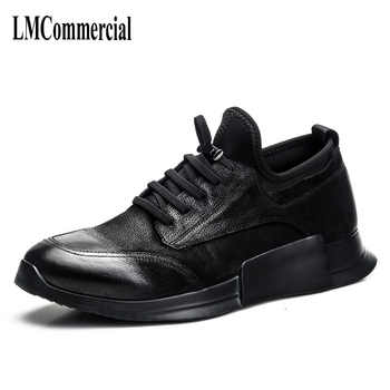 High men casual shoes retro British matte leather shoes worn shoes tide young personality breathable sneaker - Category 🛒 Shoes