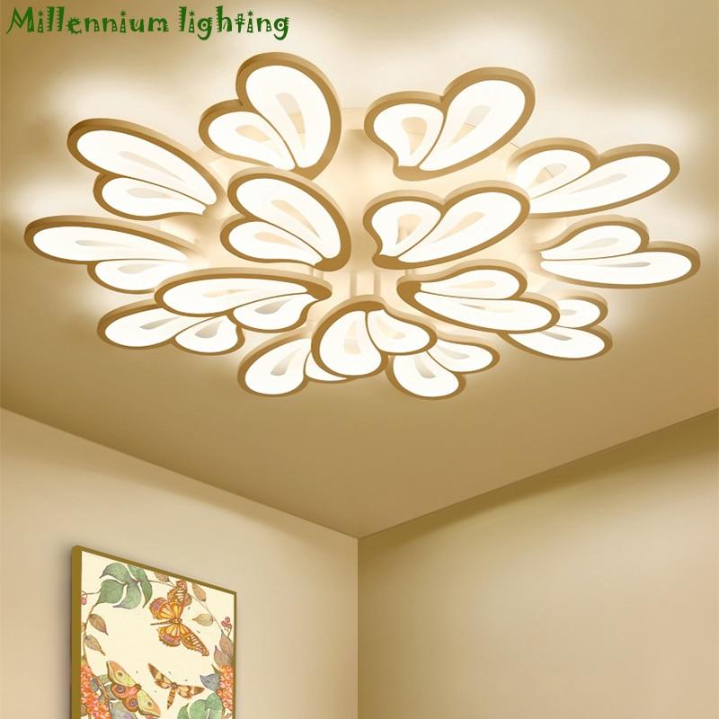 LED lustre moderne lumières pour salon chambre lumière salle à manger lampe plafond AC110-260V maison luminaires livraison gratuite