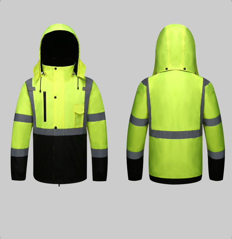 Image 4 - Autumn/Winter Reflective Clothing High Visibility Waterproof Windproof Bomber Jacket Safety Workwear Clothing for Road Traffic-in Safety Clothing from Security & Protection
