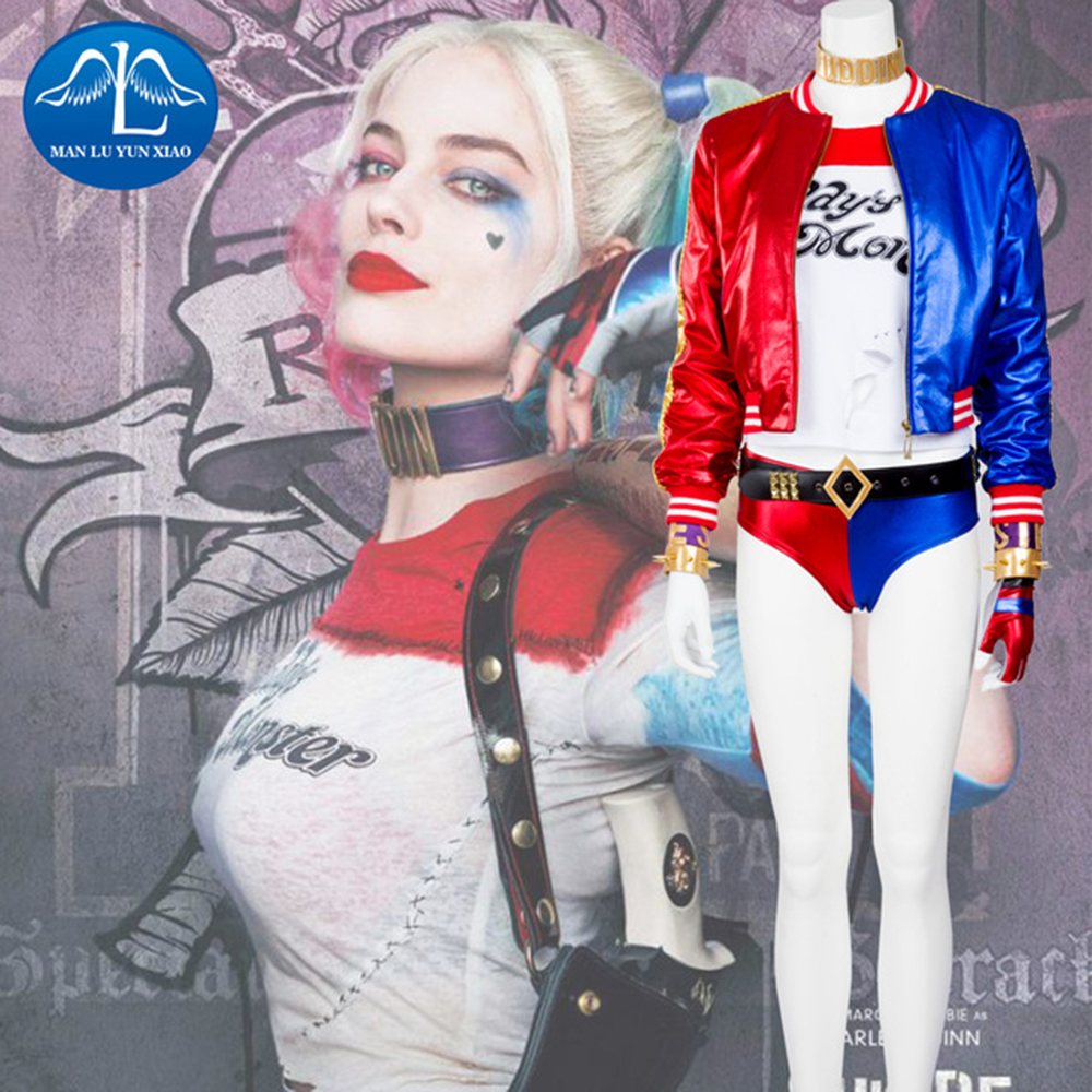 manluyunxiao suicide squad harley quinn cosplay costume. Black Bedroom Furniture Sets. Home Design Ideas