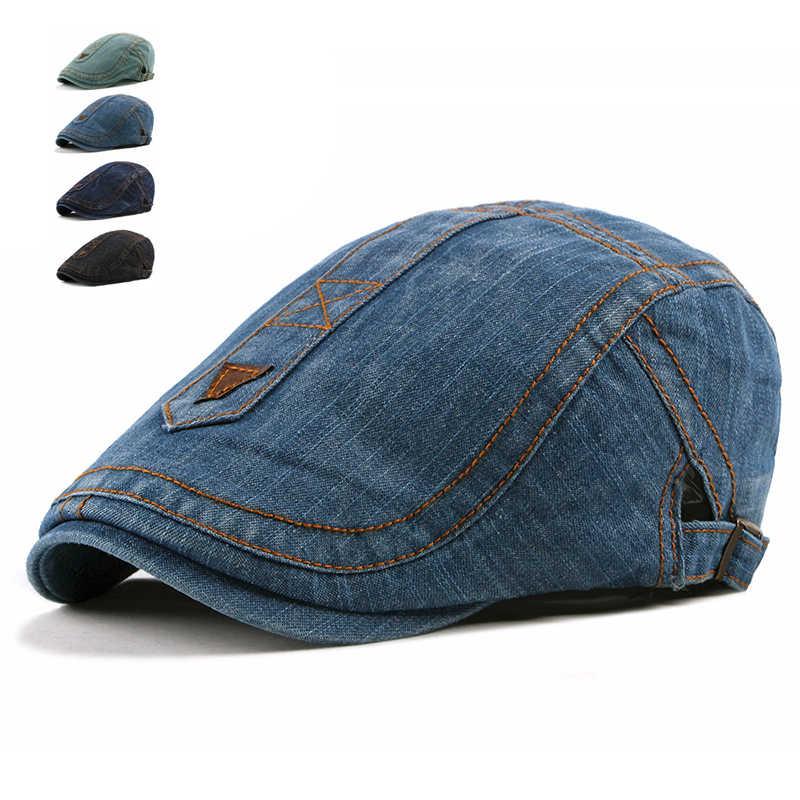 8dee582ca3e Fashion Jeans Beret Caps for Men Women Casual Breathable Beret Hats Gorras  Planas Retro Boinas Flat