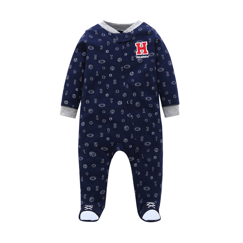 0-12 month Infantil Toddler Newborn Baby clothes 2018 baby boy one-piece jumpsuit Long Sleeved Jumpsuit COTTON FALL