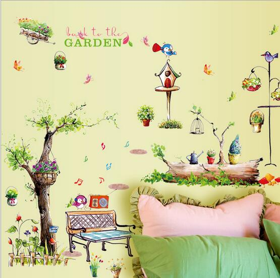 Size:50*70cm Foreign living room pvc removable wall art stickers ...