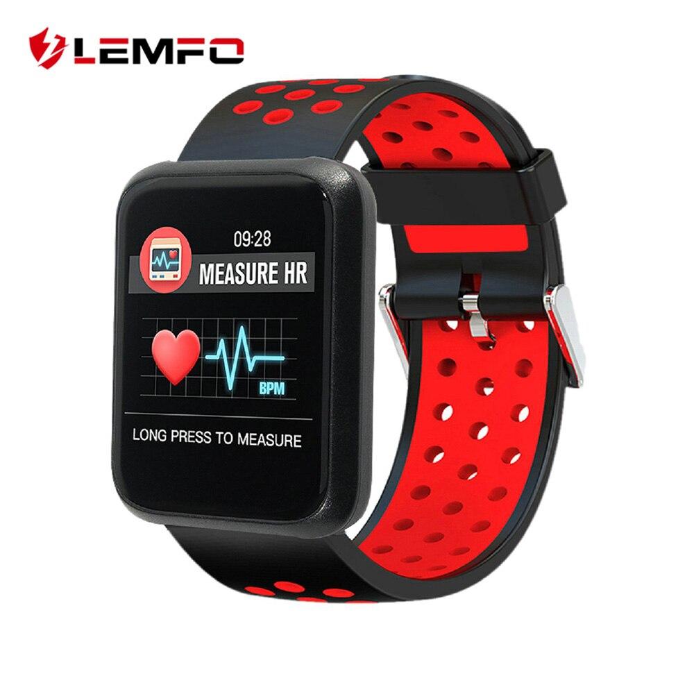 LEMFO reloj inteligente pantalla de Color pulsera de Fitness presión IP67 impermeable rastreador de actividad Smartwatch de modo del deporte