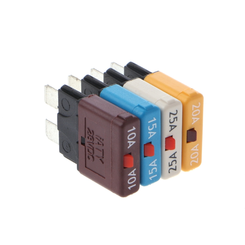 Circuit Breaker Blade Fuse 12V 24V DC Resettable 5-30A Marine Rally Automotive