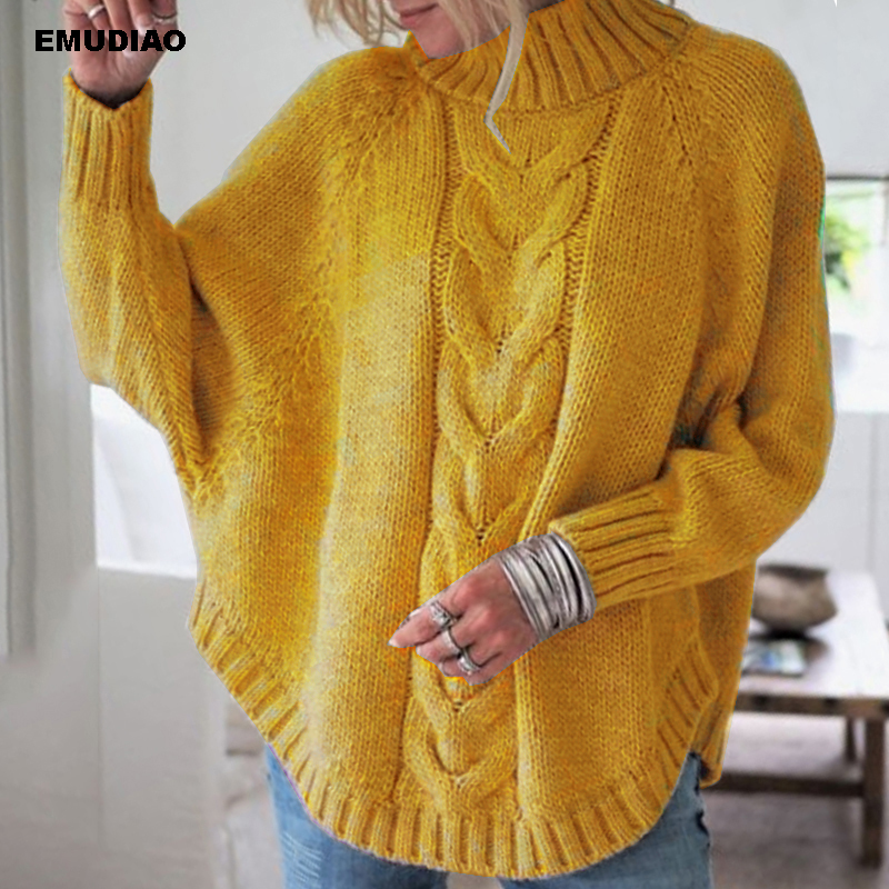 Turtleneck Sweater Women Loose Knitted Pullover Jumper Woman Winter 19 Autumn Streetwear Plus Size Pink Pull Femme Mujer Unif 4