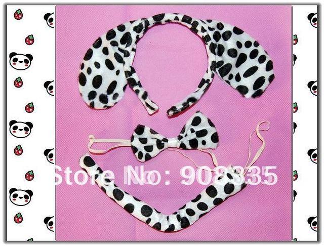 AL-23# 10SETS lovey puppy dog Headband Ears Tail Bow Tie cosplay Costume Fancy Dress