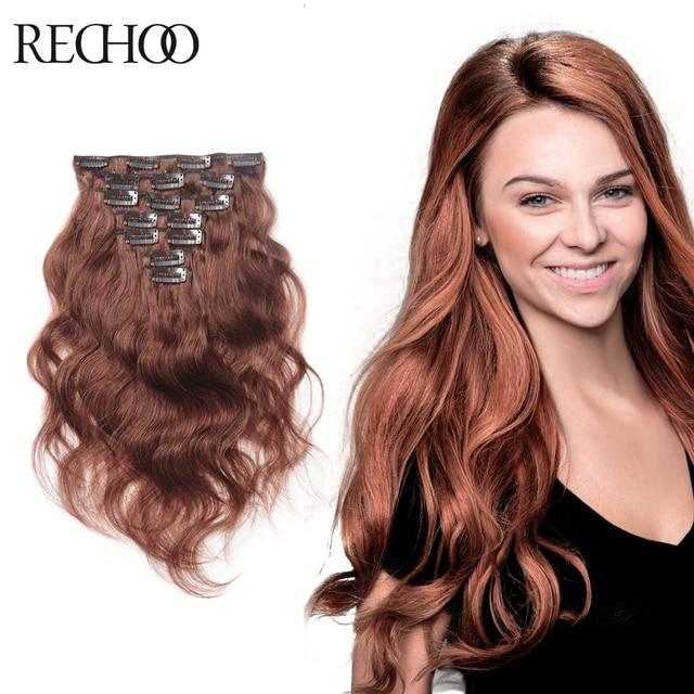 Aliexpress Buy Virgin Brazilian Wavy Hair Clip In Human Remy