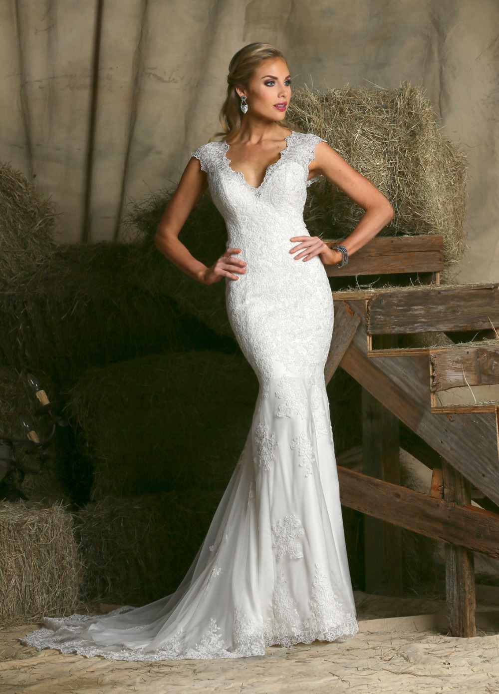 Popular country western wedding dresses buy cheap country for Western vintage wedding dresses
