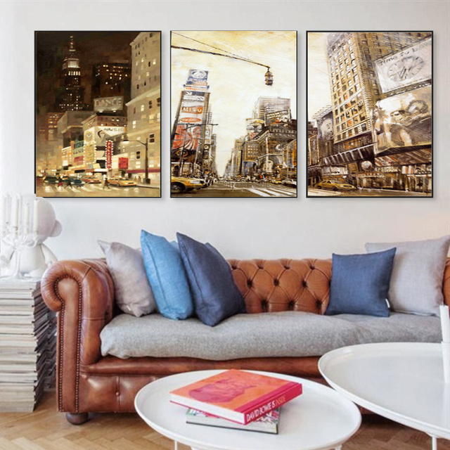 Modern Urban landscape Painting Canvas Printings Picture HD Prints ...