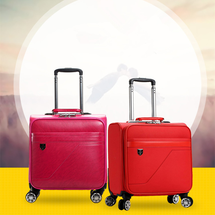 2019 Unisex PU Korean version of the small suitcase business boarding travel 18 inch small trolley Luggage2019 Unisex PU Korean version of the small suitcase business boarding travel 18 inch small trolley Luggage