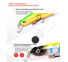 Hot model BearKing Retail new A + fishing lures,magent inside, assorted different colors,Minnow,80mm/8.5g Crankbait popper