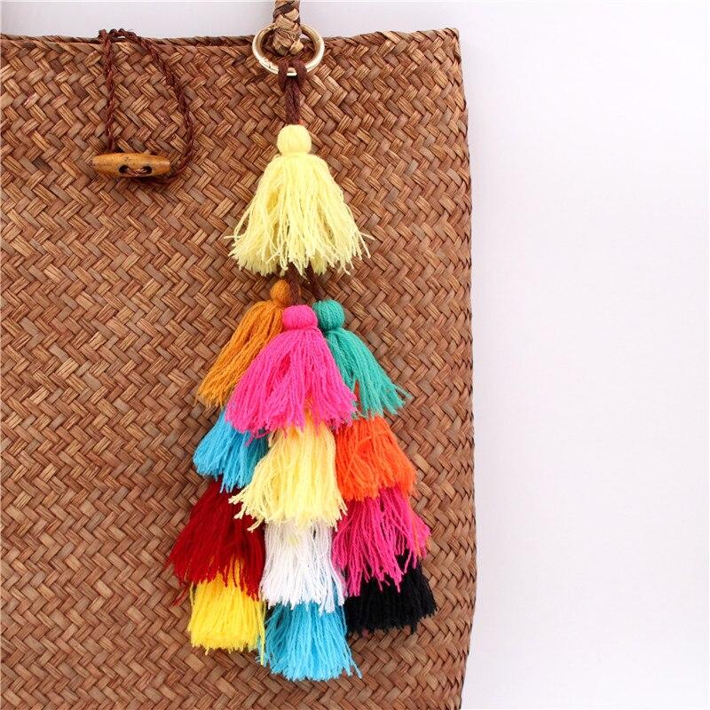 1ks Barevné Pompones střapce Pompom pro ženy Peněženka Příslušenství Bag dekorace Přívěsek