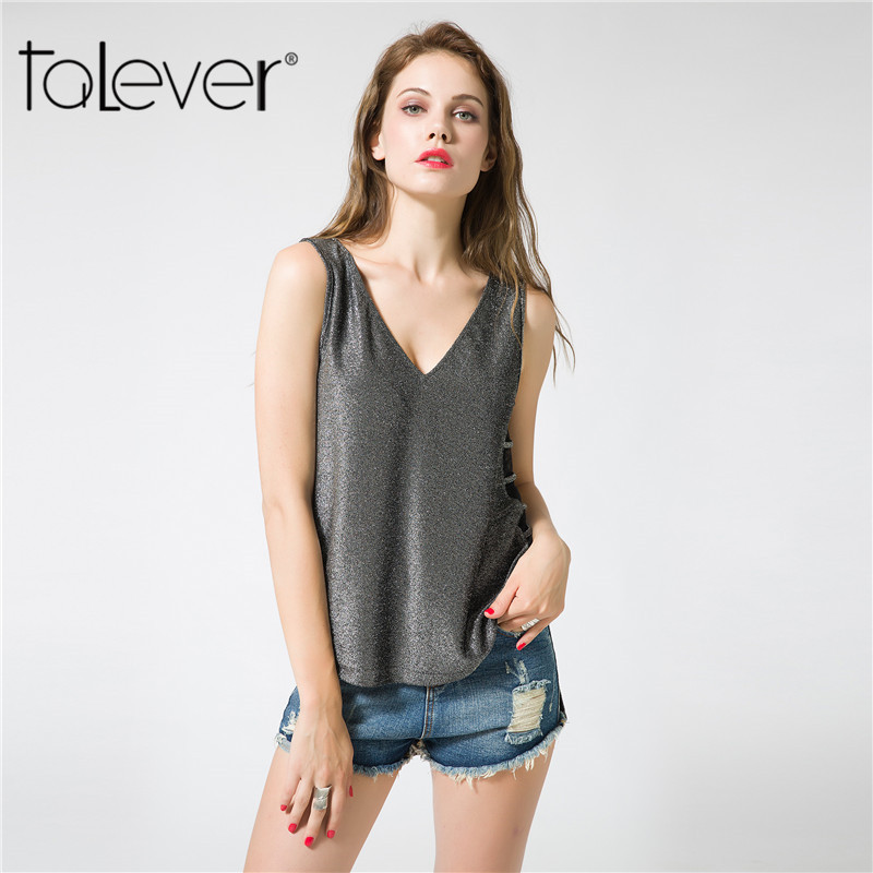 Talever 2017 Fashion Summer Women Clothes Big Size Sexy Hollow Out Loose Womens T-Shirt  ...