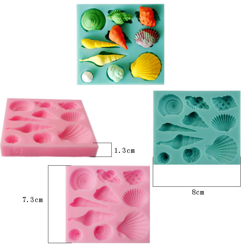 Qualified Mirror Soap Cupcake Decorating Tools Gum Paste Chocolate Silicone Mold Fondant Cake Molds Candy Molds Mermaid Tail Conch Cake Molds Kitchen,dining & Bar