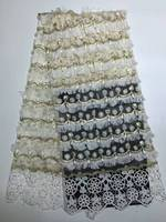 New Design Beaded Lace FABRIC High Quality African Lace FABRIC Heavy Nigerian Lace Dress FABRIC With Stones XZ420B-1